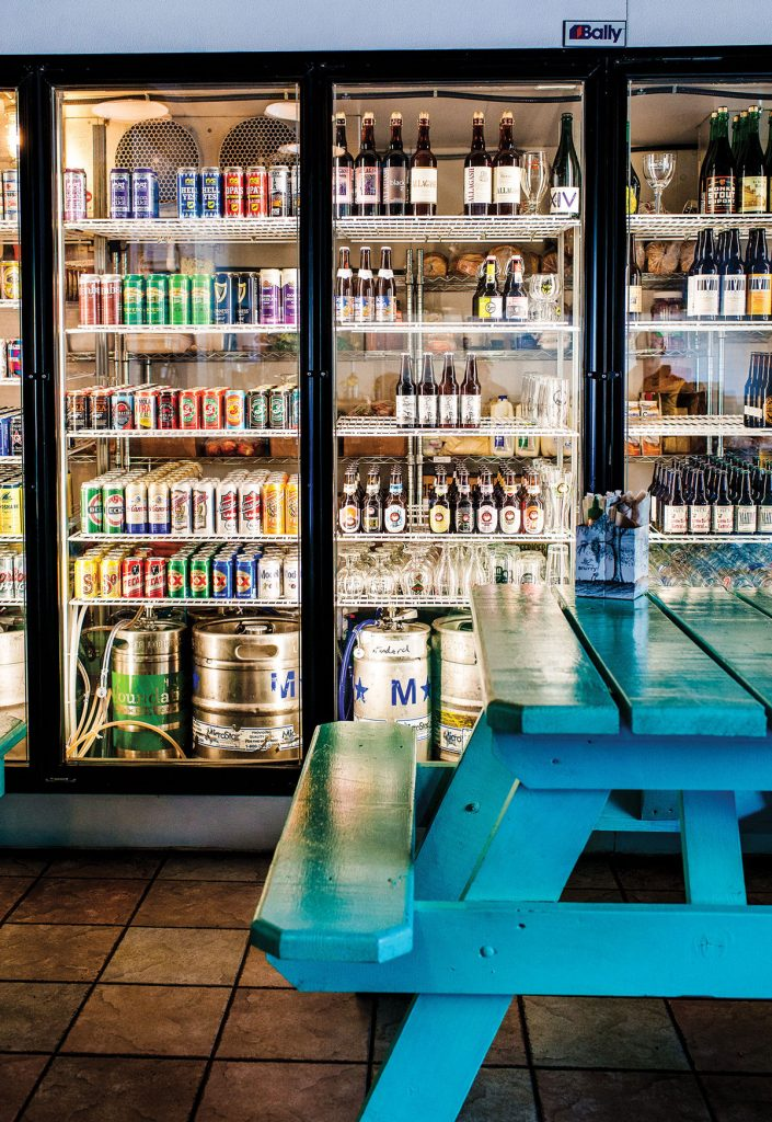 Beer cooler display at Standard