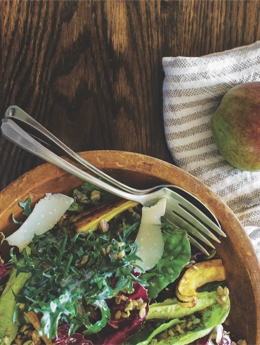 Roasted Delicata Squash and Autumn Greens