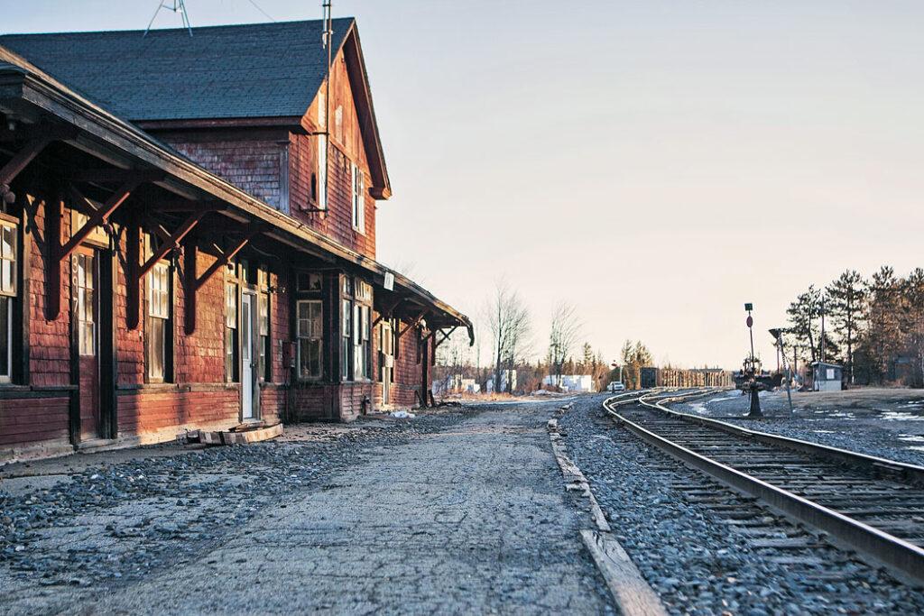 Jackman train stop
