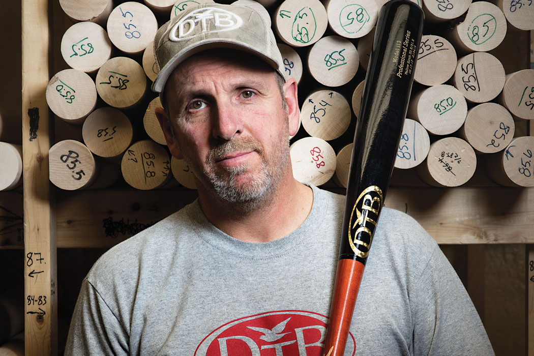Paul Lancisi holding a bat