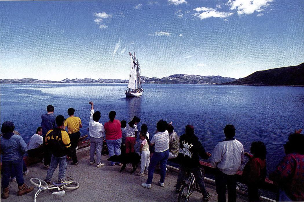 Bowdoin sailing off