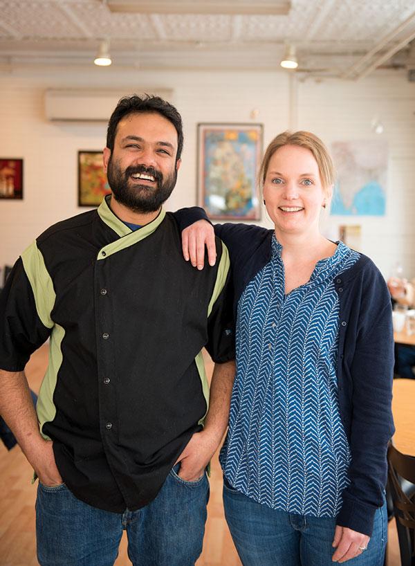 Co-owners Sanjeeva and Menemsha Abeyasekera.
