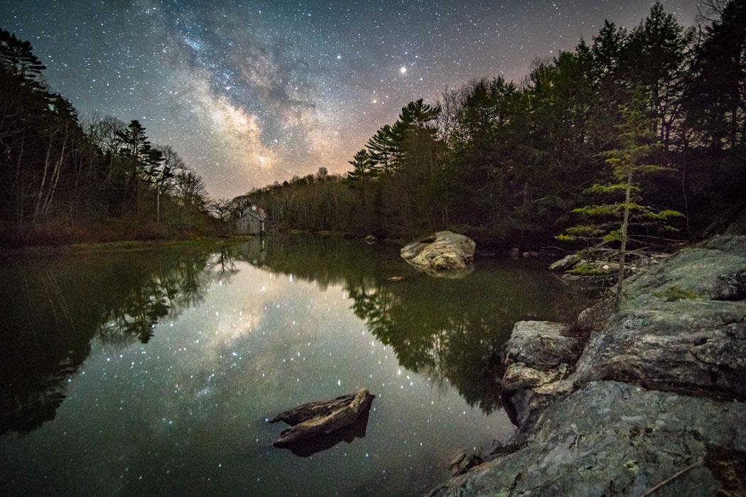 Starry night at bunganuc landing