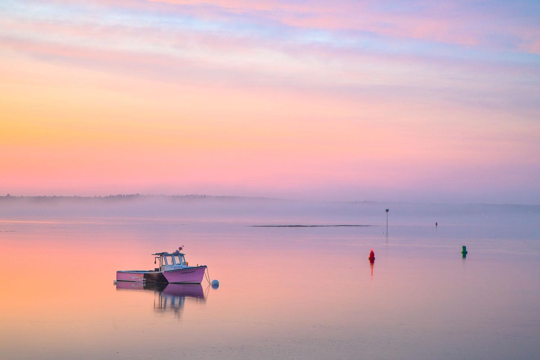 Pastel Sky, Maine