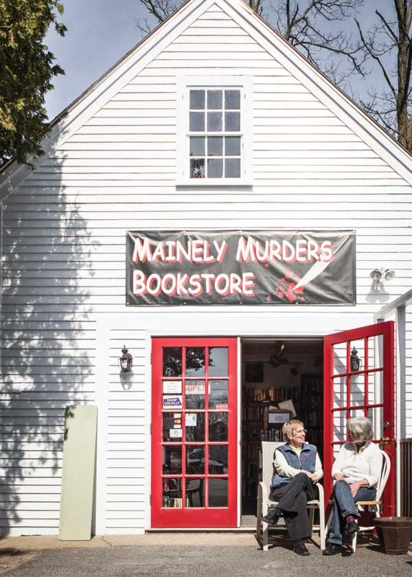 Paula Keeney and Ann Whetstone at Mainely Murders