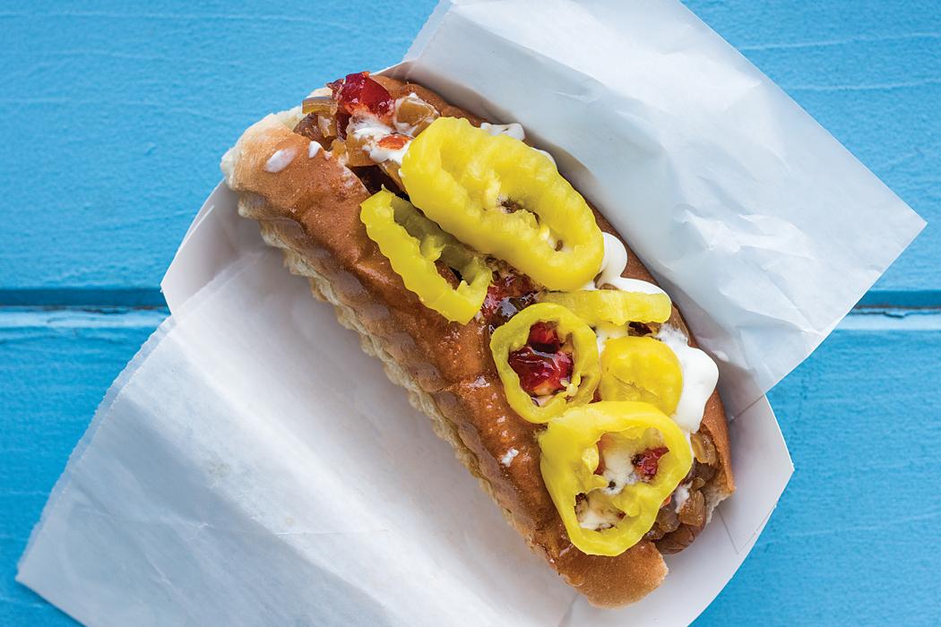 Wannawaf's Bark & Bite hot dog
