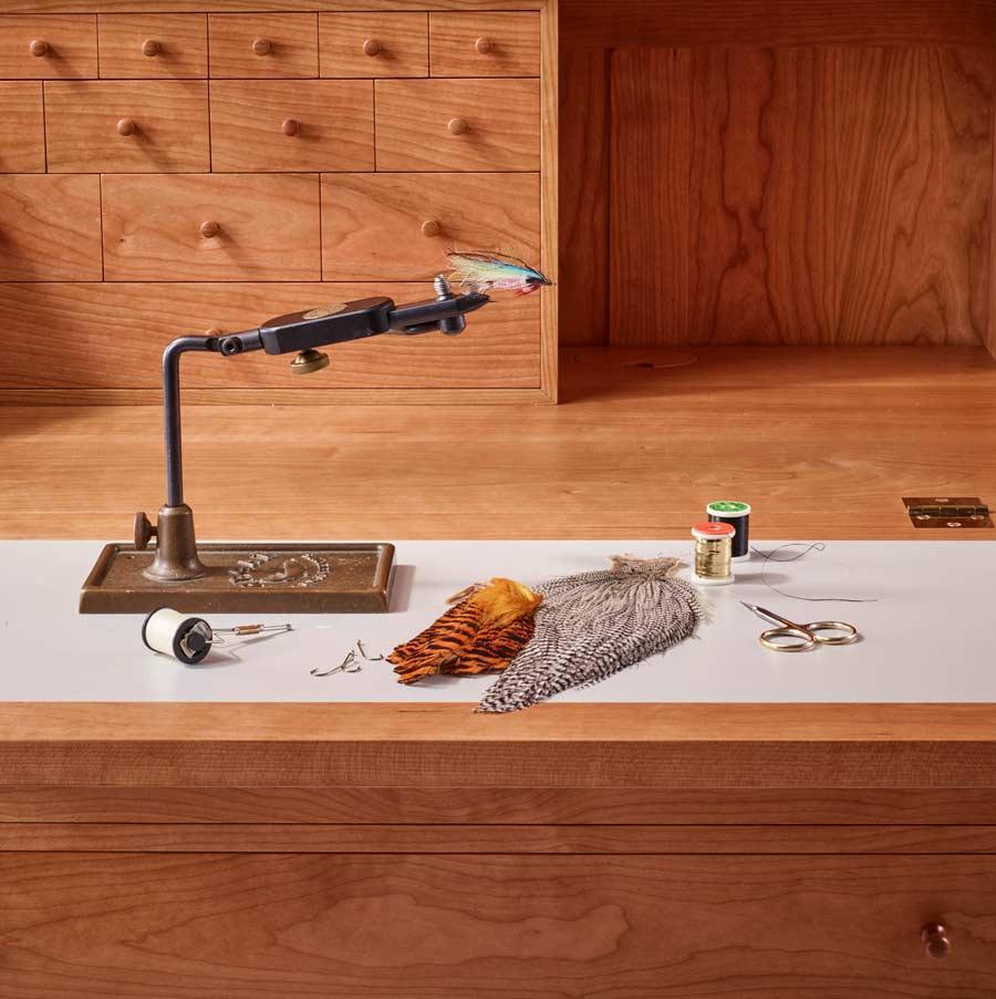 fly-tying desk