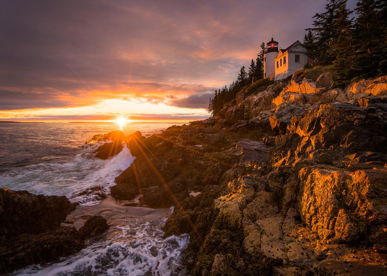 Bass Harbor Head Light Sunset