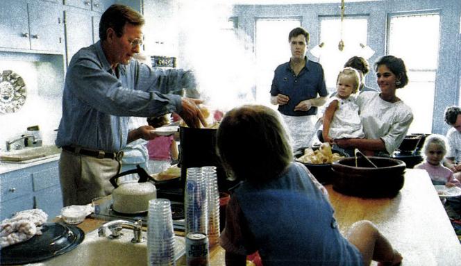 George H. W. Bush in the kitchen