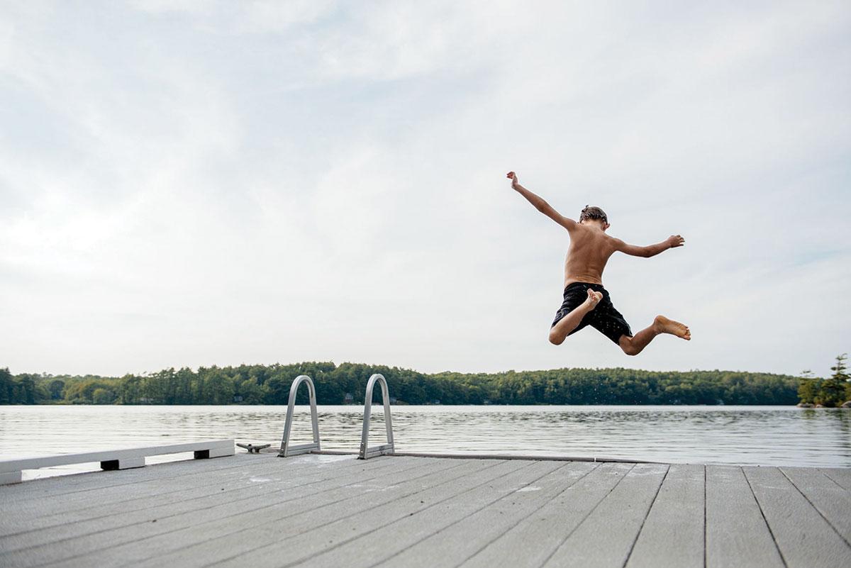 Jump off a dock