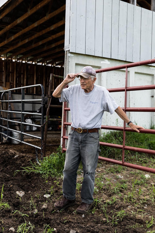 Farmer, historian, and Starks selectman Paul Frederic