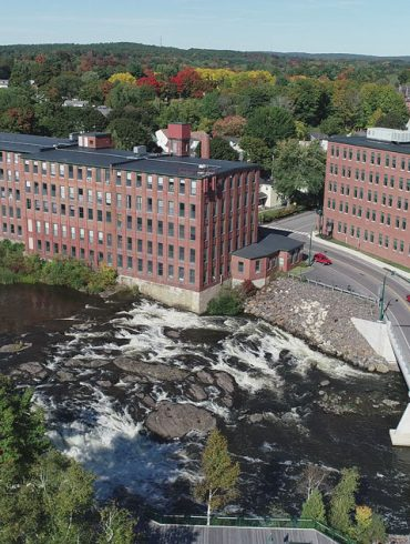 Westbrook's Saccarappa Falls once powered the Dana Warp Mill