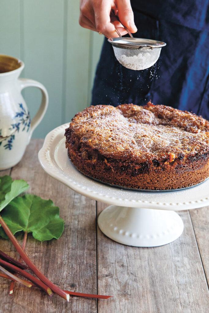 Rhubarb and Rye Cake