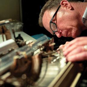 Pat Costigan, Maine's only typewriter repairman