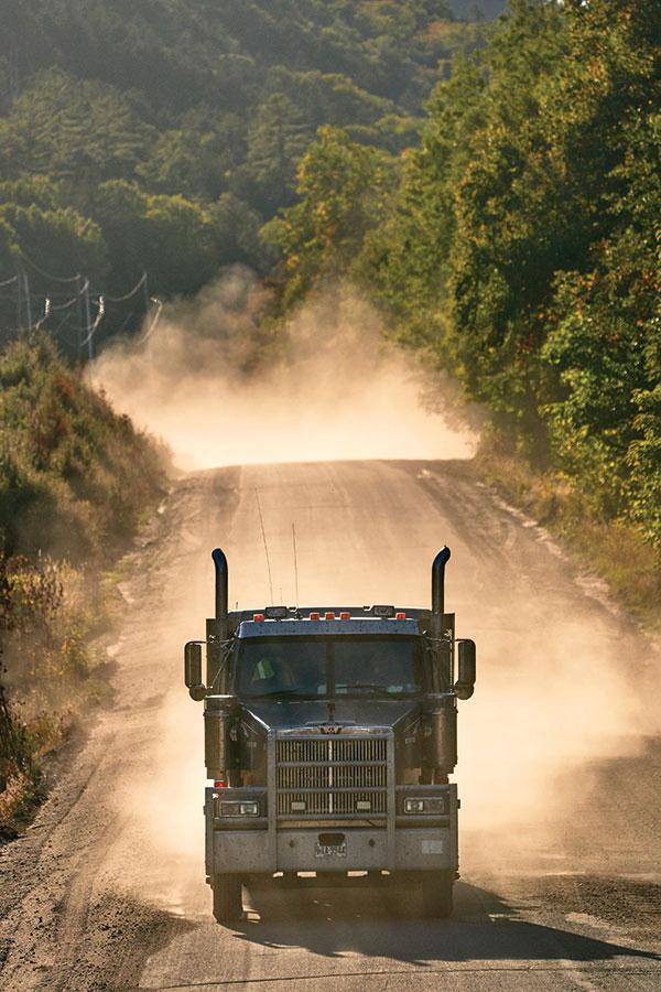 Logging truck on the Golden Road