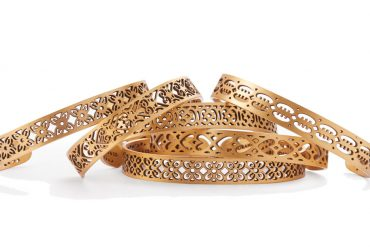 metal bracelets by Ebenezer Akakpo