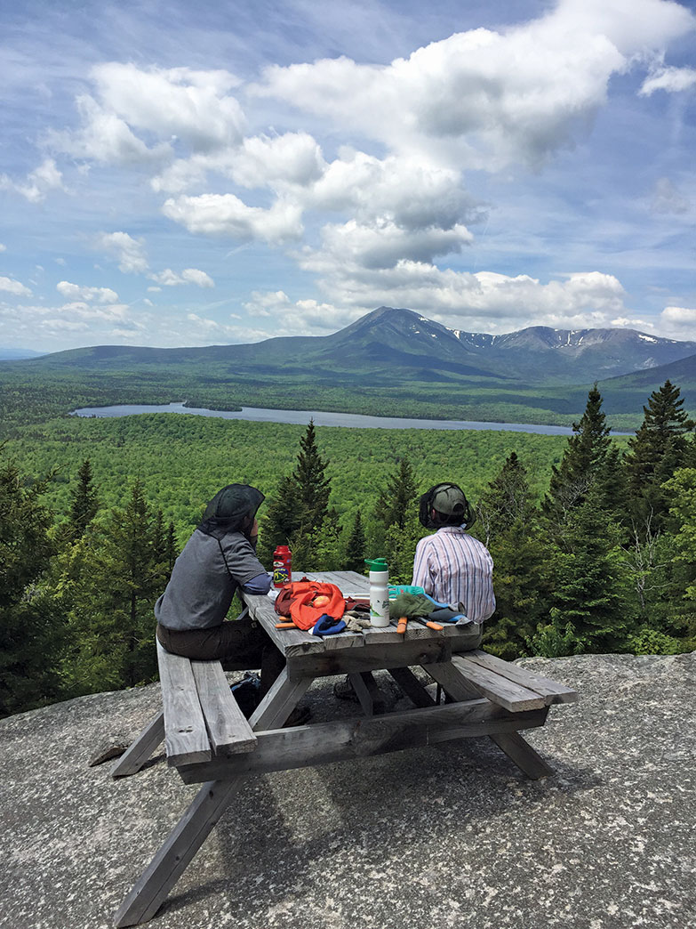 Barnard Mountain, with Katahdin looming
