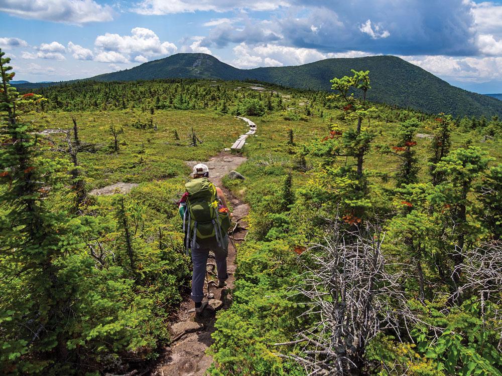 The Appalachian Trail near Speck Pond.