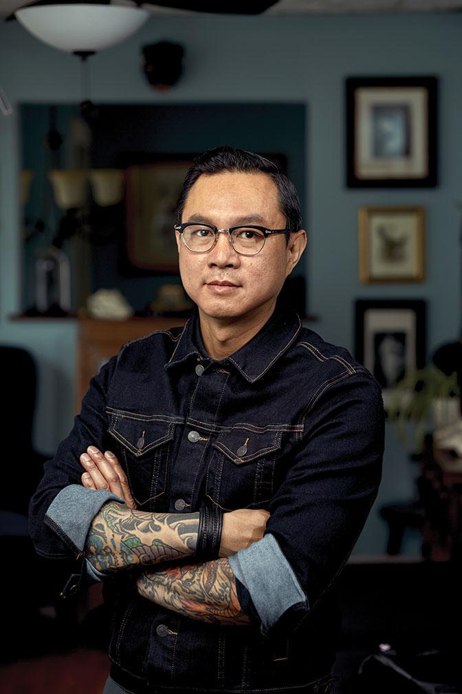 Phuc Tran of Portland's Tsunami Tattoo