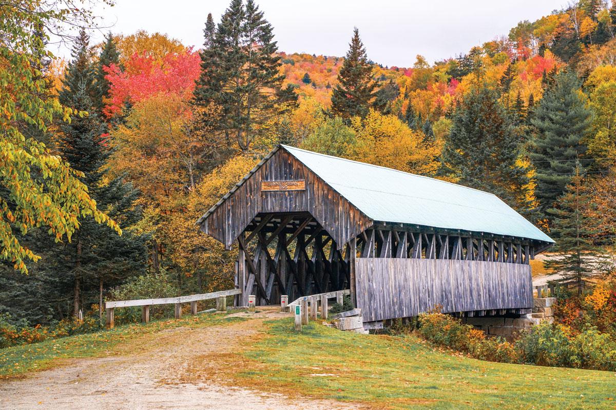 Bennett-Bean Covered Bridge in Wilsons Mills, Maine