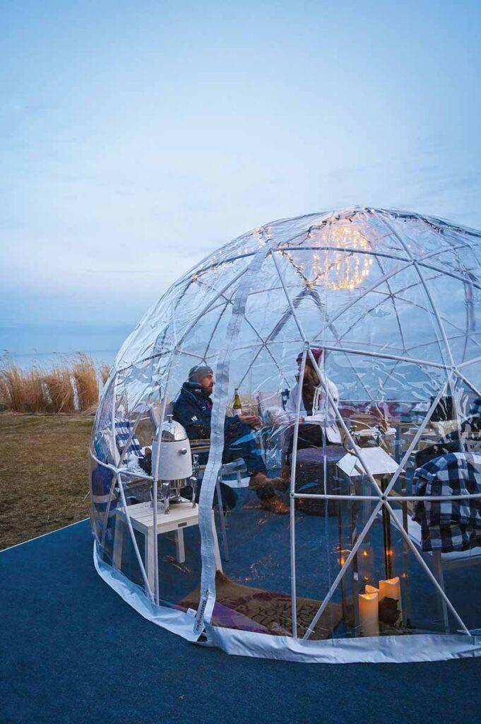 """Fluvial's Beer Garden -  Reservable """"beer domes"""""""