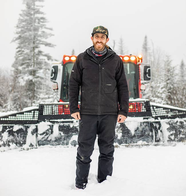 third-generation Saddleback skier Jared Emerson has worked at the resort since he was a teenager