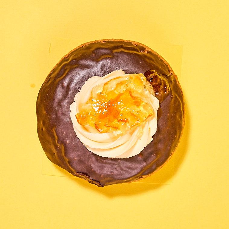 Lovebird's ganache- and buttercream-topped cake doughnut