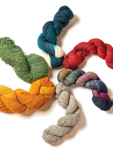 Maine-made skeins of yarn