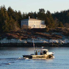 Maine island, photographed by Matt Barnard