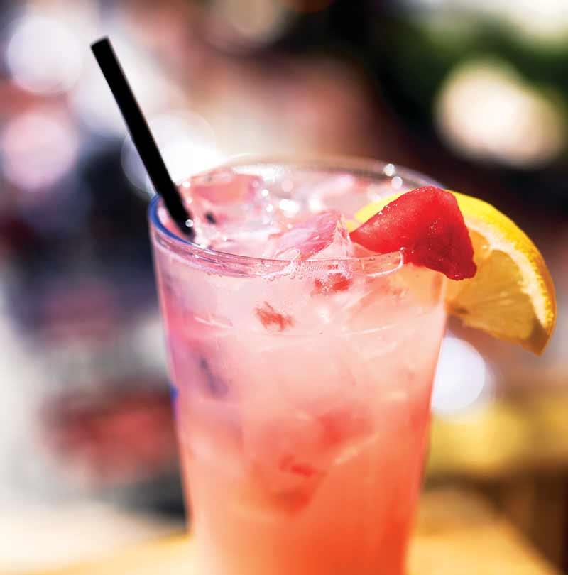 The Patio Pounder, watermelon, lemonade, and vodka cocktail
