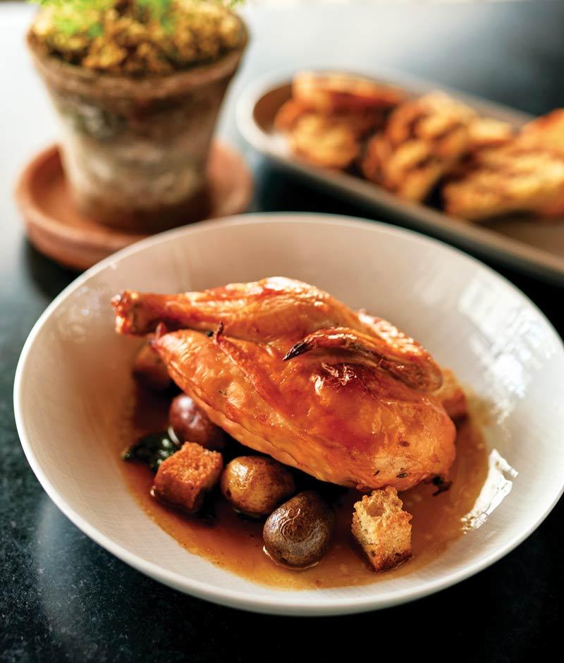Herb-roasted half-chicken