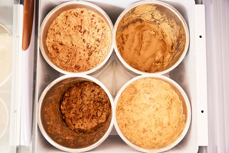 Some of Sticky Sweet's plant-based ice cream flavors