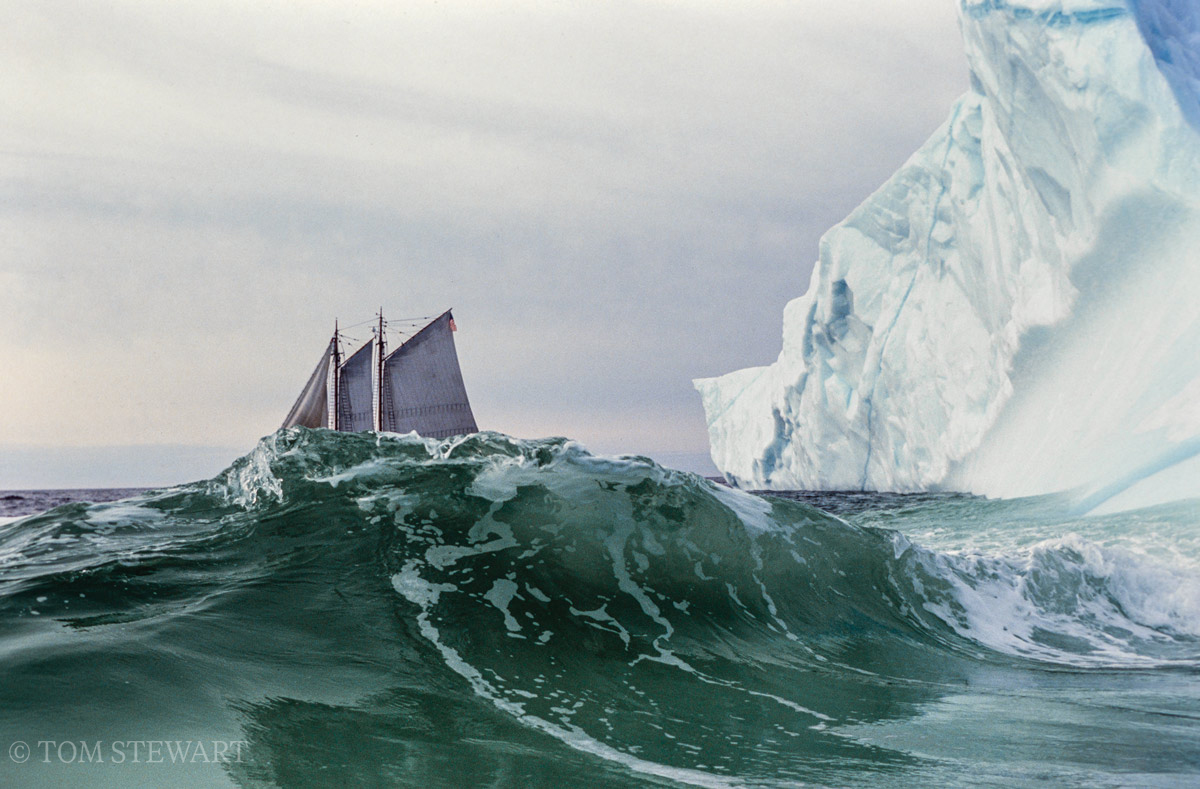The first iceberg the schooner Bowdoin encountered on its first return trip, in 1990.
