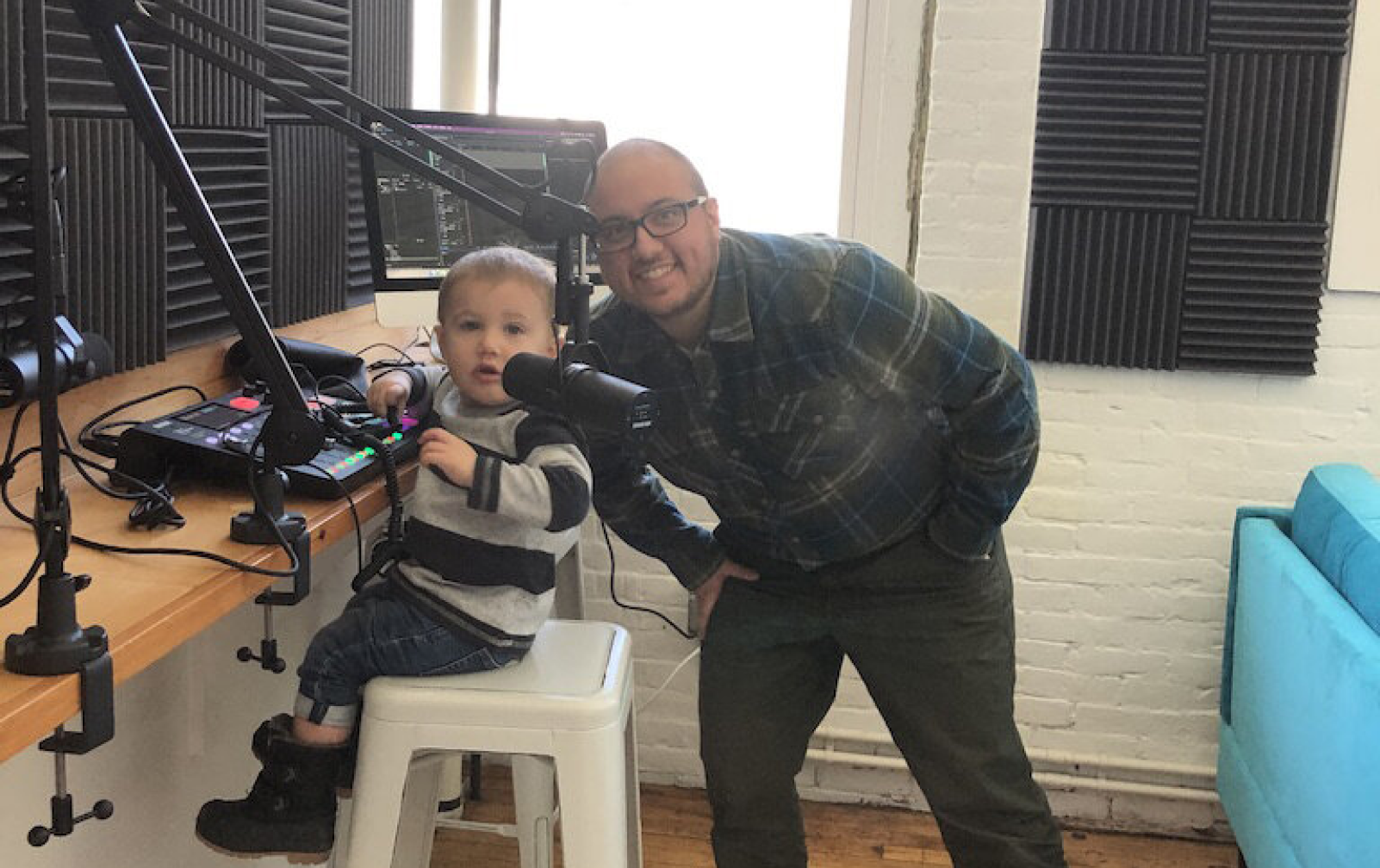 Benn Marine of host of Dirigo Collective's Responsibly Different™ podcast, with his nephew.